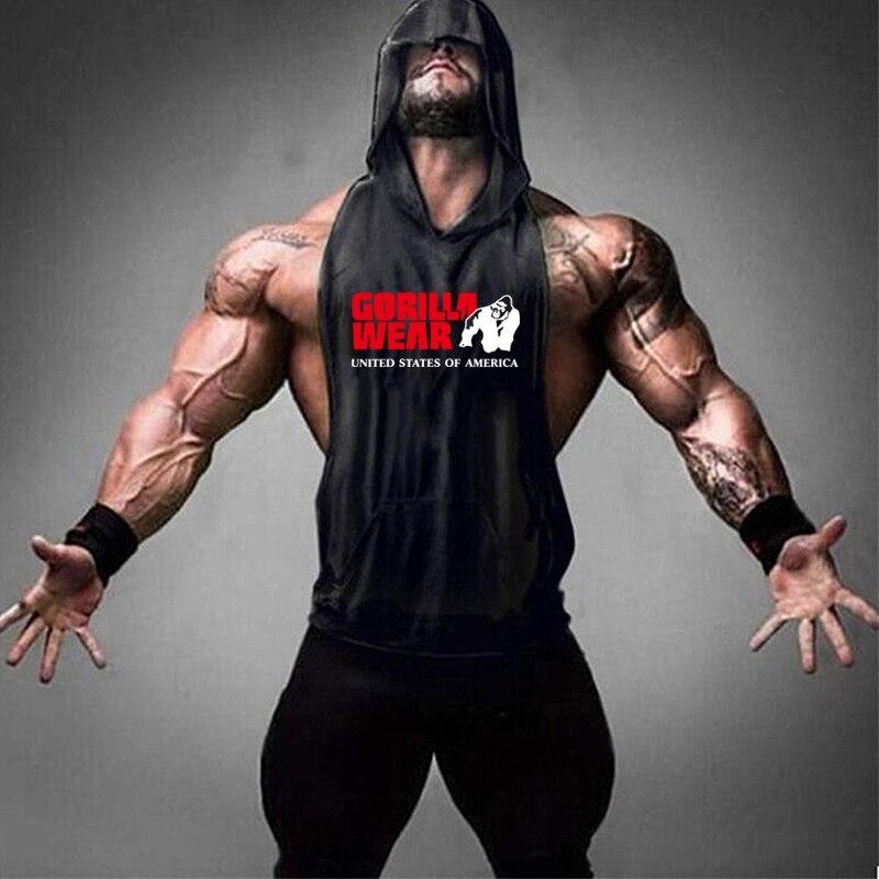 Gorilla Wear Fashion Cotton Sleeveless Tank Top Men Fitness Muscle Shirt Mens Singlet Bodybuilding Workout Gym Vest Fitness Men