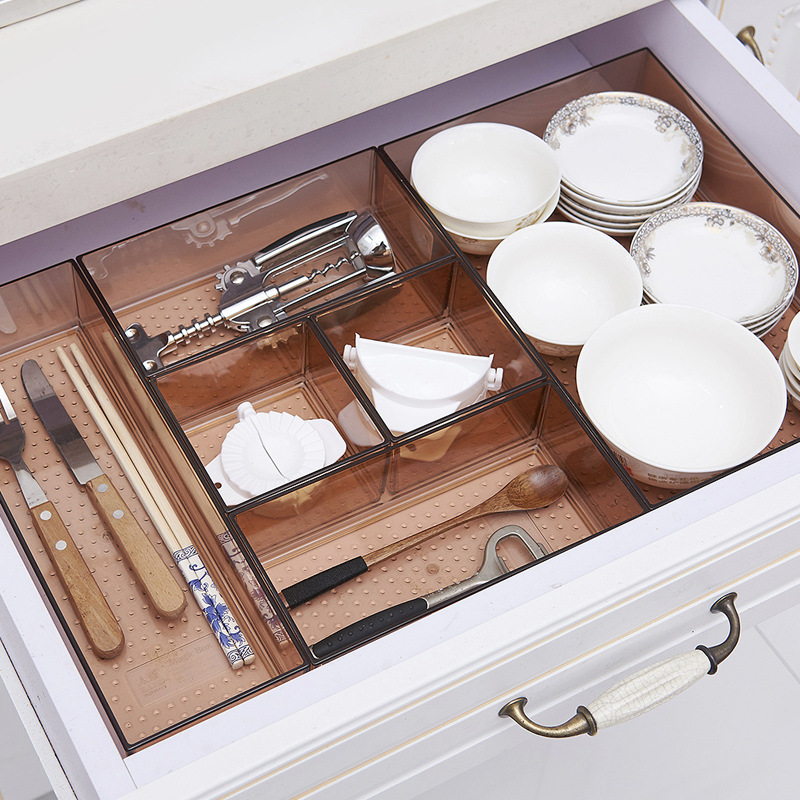 Organizer Drawer Box Trays Home Office Storage Kitchen Cutlery Closet Desk Box Drawer Organization Tray Cutlery Stationery