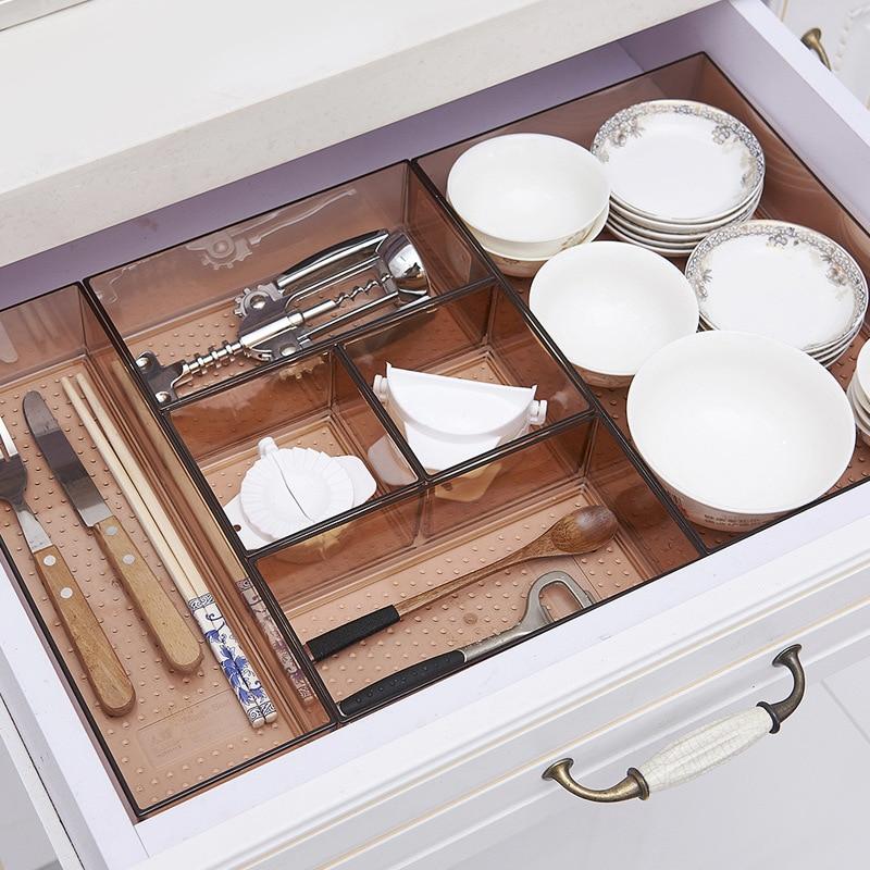 Veranstalter schublade Box Trays Hause Büro Lagerung Küche besteck Schrank Schreibtisch Box Schublade Organisation Fach Besteck Schreibwaren