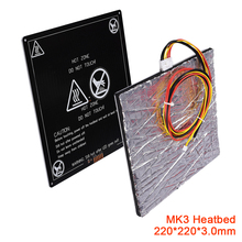 Sticker Printer-Parts Heated-Bed Sound-Insulation Aluminum-Foil Cables Like-Mk2b 220x220x3mm