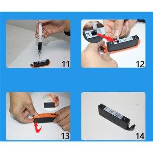Image 4 - Оригинальный чернильный картридж, заполняющий инструмент 5/6 цветов, комплект для принтера Canon TR7520 TR8520 TS6120 TS6220 TS9520, запчасти для принтера