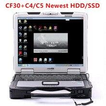 12 4GB Toughbook Panasonic CF30 ноутбук с новейшим программным обеспечением hhtwin установлен в HDD/SSD для MB Star C4 STAR C5 Готовая работа