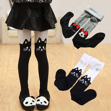 Cotton Tights Stockings Girl Pink Grey Knitted Baby-Girls Cute Cartoon for Suitable-For
