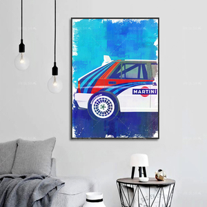 Modern Lancia Rally Car F1 LC2 Abstract Poster Canvas Painting Print Modular Wall Art Picture For Living Room Bedroom Home Decor