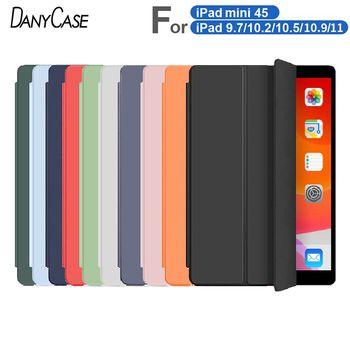 2019 iPad 10 2 etui do ipada 7th generacji pokrywa dla 2017 2018 iPad 9 7 5 6th powietrza 2 3 10 5 Mini 4 5 2020 Pro 11 Air 4 10 9 tanie i dobre opinie DANYCASE Powłoka ochronna skóry CN (pochodzenie) For iPad Case Stałe Dla apple ipad moda odporne na wstrząsy Odporne na upadki