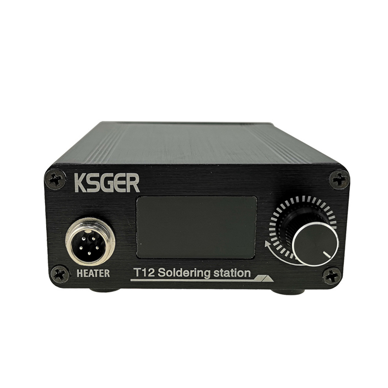 Tools : KSGER T12 STM32 V3 1S Welding Soldering Iron Station OLED Electric Quick Heating T12 Iron Tips 907 9501 Handle with 3Pcs T12 Tip
