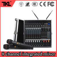 TKL PH2400 8 channel audio DJ mixer 1200W*2 power amplifier wierless micophone USB bluetooth stage audio mixer