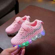Children LED Shoes Kids Baby Girls Boys Bling Led Luminous Sport Run Sneakers Casual Shoes Sapato Infantil Baby Light Up Shoes(China)