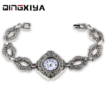 Antique Silver Bracelet Women Watch QINGXIYA Top Brand Luxury Lady Quartz Wrist Watch Female Clock For Dropship relogio feminino ladies watch bracelet luxury brand small dimand wrist watch top selling unique female quartz hand watch gift for women