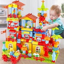 Big Size Building Blocks Construction Amusement Park DIY Brick Assembly Bricks Building Educational Toys For Children Kids Gift