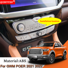 Car Styling Car Air Conditioning Switch Sequins Internal Decoration Stickers Auto Accesorries For Great Wall GWM POER 2021 2022