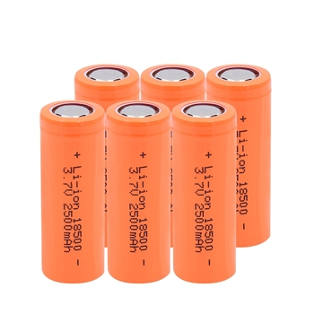 6/8/10 Pcs 3.7V 18500 2500mAh Li-ion Lithium Batteries Long Lasting 18500 Replacement Cells For Backup Power E-bike RC Toy Car image