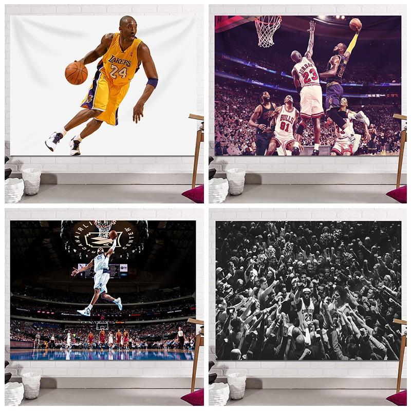 Basketball Hanging Tapestry Kobe Bryant Bedroom Decorating Bedside Background Cloth Room Decoration Boys Dormitory Poster