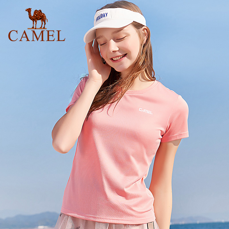 CAMEL Men Women Outdoor Clothes Summer Men T-shirt Breathable Tops Casual Women's Clothing Sports Quick-drying Running T-shirts