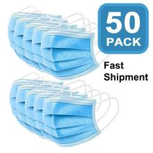 In Stock Disposable Mask Flu 50pcs Masks for germ protection Pm2.5 Elastic Kids Adult N95 Face Mouth Mask anti pollution