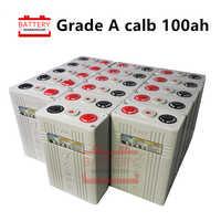 16PCS 3.2v 100ah Rechargeable LIFEPO4 Battery cells CA100 Plastic 12v400AH 24V200AH 48V100AH for solar RV pack electric vehicle