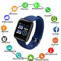 Nouvelle montre intelligente hommes femmes moniteur de fréquence cardiaque tension artérielle Fitness Tracker Smartwatch montre de Sport pour ios android + boîte