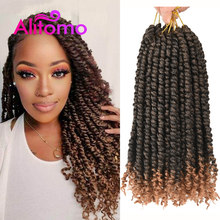 Alitomo wstępnie skręcone Passion plecione warkoczyki afro 12 Cal Senegalese Spring Bomb Twist szydełkowe włosy rozszerzenia dla Women16 korzenie