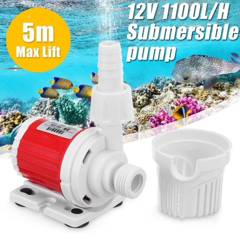 12V 20W DC 1100L/H Energy Saving Submersible Water Pump Marine Controllable Adjustable Speed Water Pump Fish Tank Aquarium