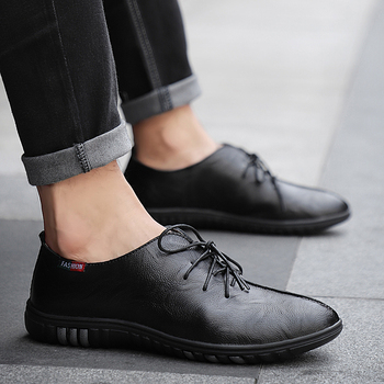 2019 Popular Casual Men Shoes Fashion Pu Leather Loafers Male Comfortable Men Driving Shoes Flats Loafers Male Big Size HC-414