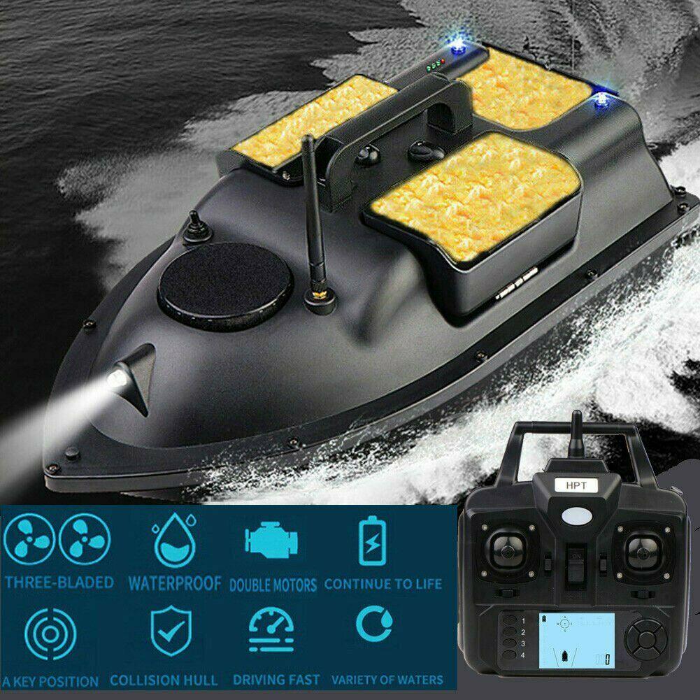 500m gps rc barco isca de pesca 3 funis velocidade isca de pesca barco carpa gancho pós barco com camo bolsa 5200 mha baterias de reposição