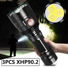 Torche tactique de haute qualité XHP90.2, 12 cœurs, Usb, Rechargeable, batterie 18650 26650, lanterne étanche et Ultra lumineuse