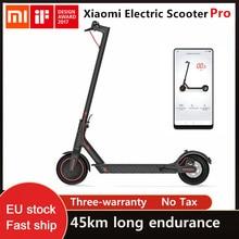 Xiaomi m365 pro scooter elétrico preto inteligente dobrável recarregável longa resistência com longboard hoverboard skate navio livre