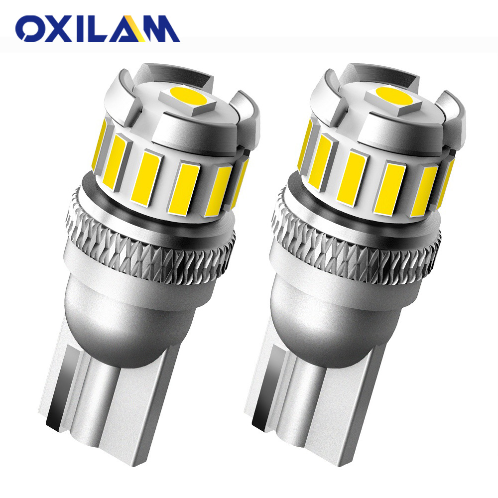 OXILAM 2x NEW T10 LED Canbus W5W 194 168 Auto Lamp For Car Parking Light Clearance Dome Reading Interior Trunk Lamp 6500K White