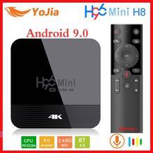 H96 мини H8 Android 9,0 ТВ приставка 2 Гб 16 Гб Rockchip RK3328A 1080p 4K медиаплеер двойной Wifi Google Play Store Netflix Youtube 1G8G