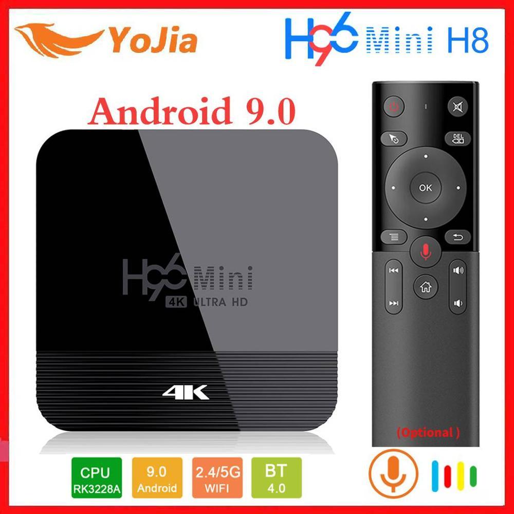 Android 9.0 TV Box 2GB 16GB Rockchip RK3328A 4K Media Player Dual Wifi Google Play Store Netflix Youtube 1G8G H96 H8 PK X96 Mini