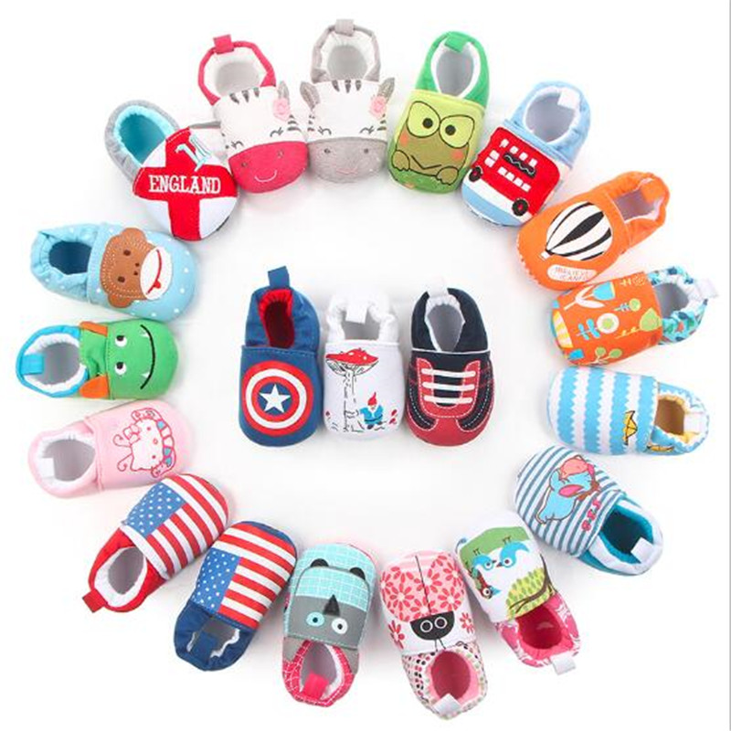 Hot Sale Cute Baby Shoes Girls Boy First Walkers Newborn Slippers Soft Sole Infant Crib Shoes