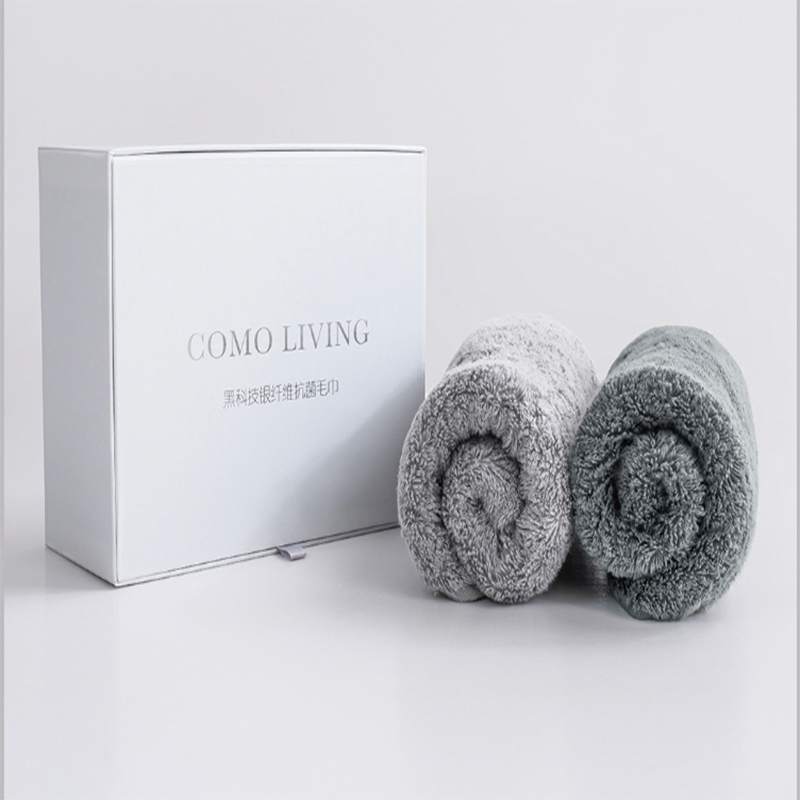 COMO LIVING Silver Fiber Antibacterial Towel Sports Fitness Absorption Breathable Sweat Bath Towel Quick Drying Portable Shower