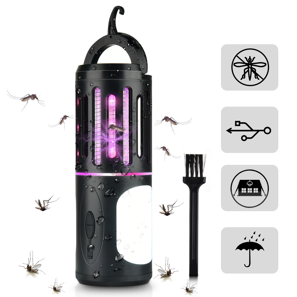2 In 1 Mosquito Killer Lamp Rechargeable Mosquito Killer Led Torch USB Rechargeable Moskito Lamp Insect Killer Lights Flies Trap