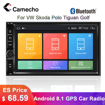 Camecho 2Din Android 8.1 Car GPS Multimedia Player Autoradio 2din Stereo For VW Volkswagen Nissan Hyundai Kia toyata Polo Tiguan image