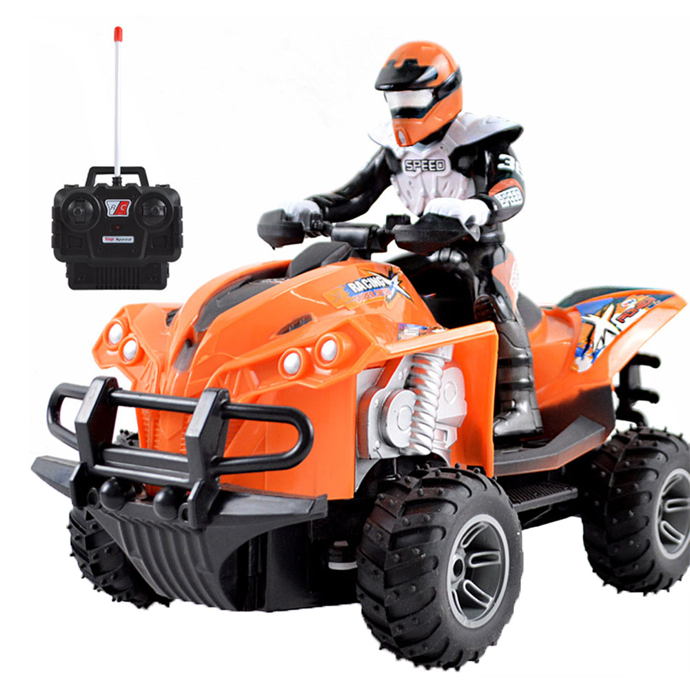 Children <font><b>RC</b></font> <font><b>Motorcycle</b></font> Anti Collision Electric Toy Gift Wear Resistant Rechargeable Simulated Driving Quad Bike High Speed Fun image
