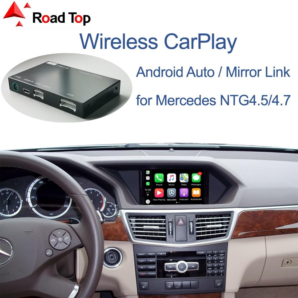 Carplay sem fio para mercedes benz e-class w212 e coupe c207 2011-2015, com funções do jogo do carro do airplay da ligação do espelho automático de android