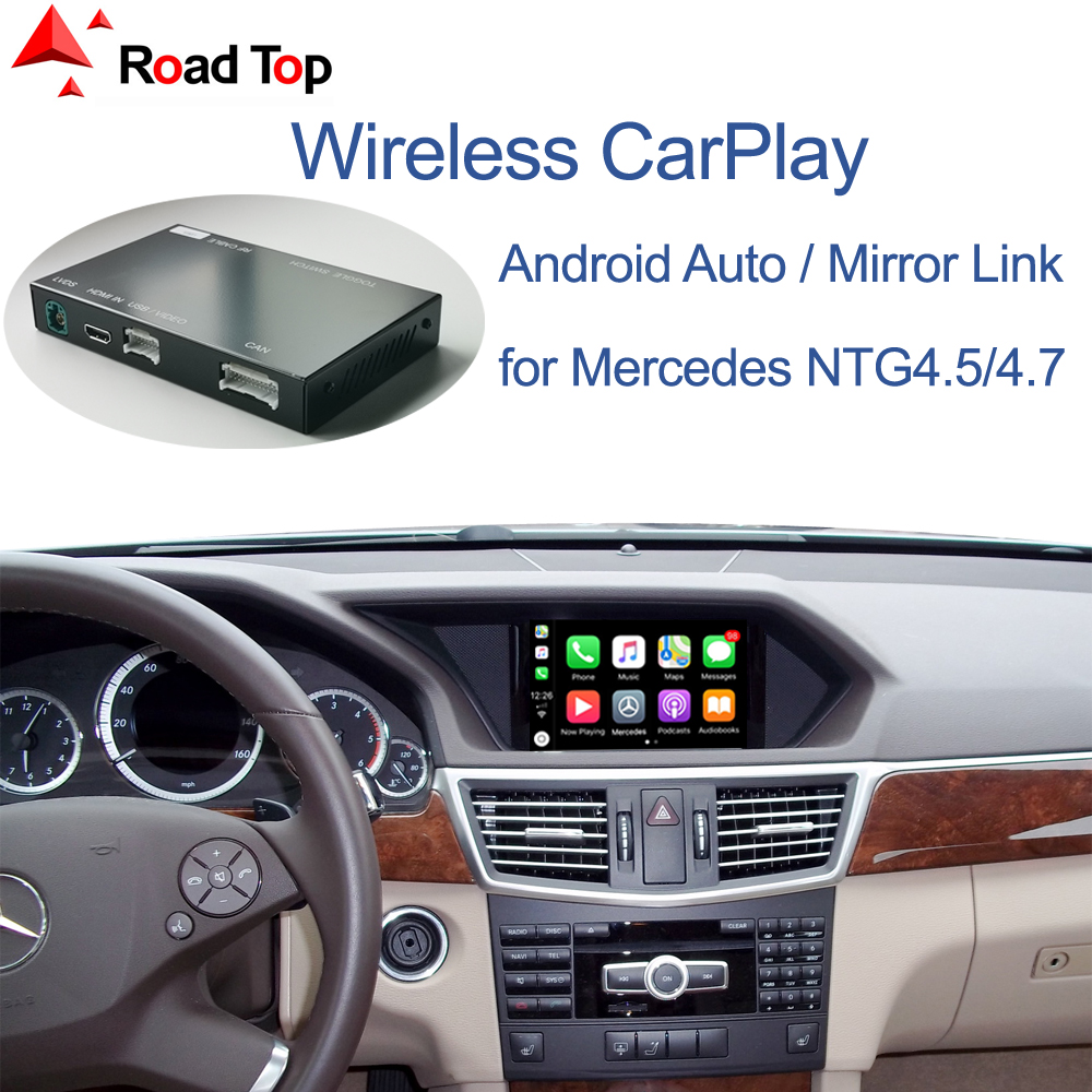 Беспроводной CarPlay для Mercedes Benz E-Class W212 E Coupe C207 2011-2015, с функциями Android Auto Mirror Link AirPlay