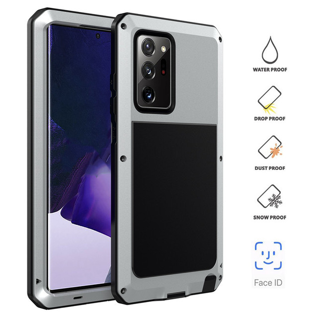 Heavy Duty Protection Doom Armor Metal Aluminum Phone Case For Samsung Note 20 Ultra S20 Plus For Huawei P30 Pro Shockproof Case