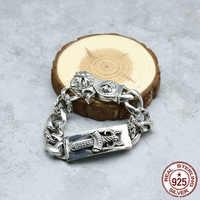100% S925 Sterling Silber Armband Persönlichkeit Mode Stil Punk Stil Dominierenden Kreuz Heiligen Schwert Form Geschenk für Liebhaber