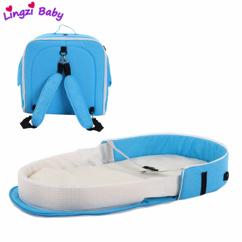 Baby Bed Portable Folding Baby Bed Nest Cot For Travel Foldable Bed Bag Infant Sleeping Basket
