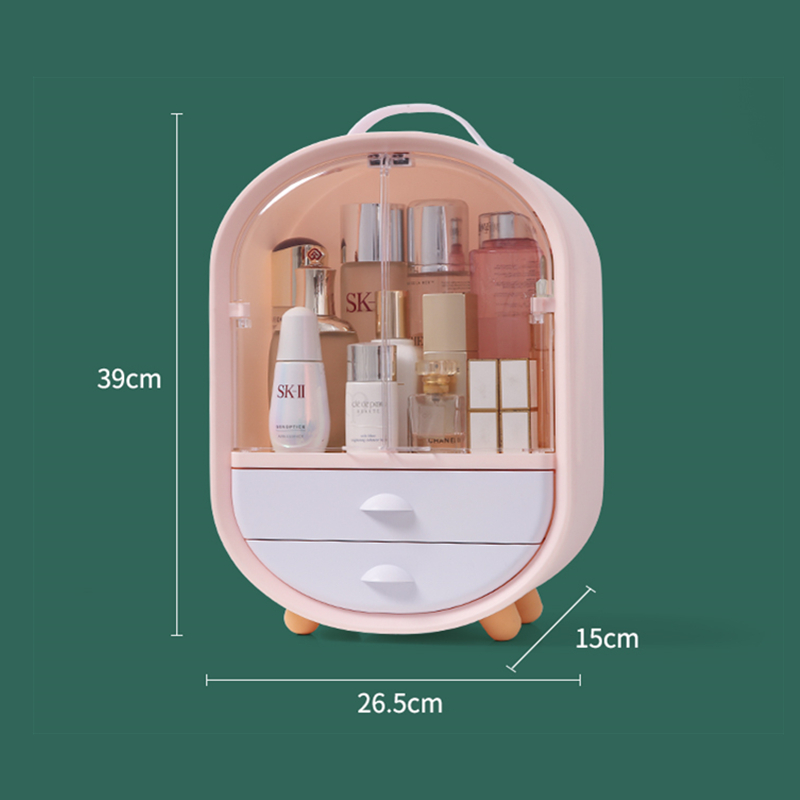 Cosmetics Storage Box Desktop Makeup Organizer Dust-proof Lipstick Mask Skin Care Product Holder Make Up Tool Plastic Container
