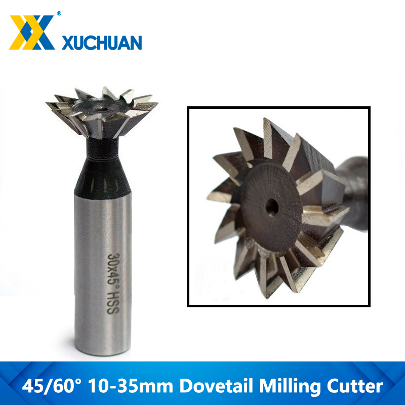 Top SaleDovetail Router-Bit Milling Cutter Cnc-End-Mill Shank Straight 45/60-Degrees 1pc HSS