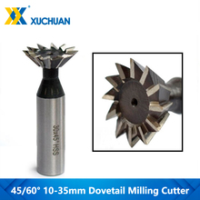 1pc 45/60 Degrees HSS Dovetail Milling Cutter CNC End Mill Straight Shank CNC Router Bit