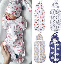 Спальный мешок для новорожденных 2 шт Хлопковое одеяло на молнии