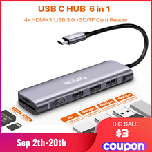 USB type c hub multi hub usb 3.0 to hdmi adapter Dock with PD sd TF card for MacBook Pro Huawei Mate 30 surface pro dock Splitte