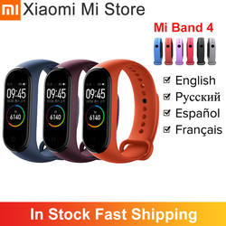 In Stock Xiaomi Mi Band 4 Smartband 3 Color Screen Heart Rate Miband 4 Fitness Bracelet Bluetooth 5.0 Waterproof