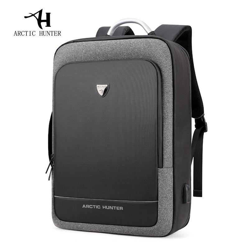 Arctique HUNTER USB sac à dos homme multifonction Portable sac à main/épaule voyage d'affaires 15.6/17 pouces sac à dos pour ordinateur Portable hommes sac