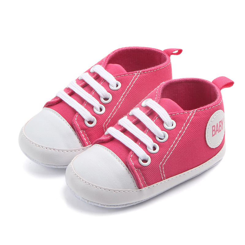 0-18 Months Classic Canvas Sports Sneakers Baby Boys Girls Shoes First Walkers Infant Toddler Baby Shoes Soft Sole Anti-slip