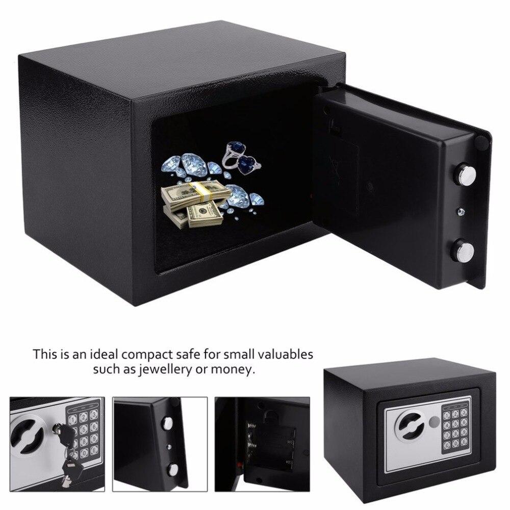 4.6L Профессиональный Сейф для дома цифровой электронный сейф для дома, офиса, ювелирных изделий, денег, противоугонная коробка безопасности