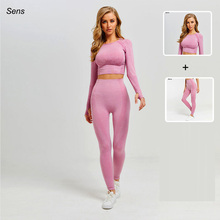 Hot Sale Women Gym Suit Yoga Leggings ropa deportiva mujer Women Sports Yoga Pants gym clothing Yoga Clothing Women Yoga Set